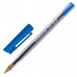 Ручка шариковая STAEDTLER (Германия) 'Stick', СИНЯЯ, корпус прозрачный, узел 1 мм, линия письма 0,35 мм, 430 M-3