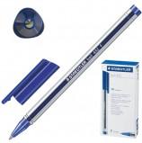 Ручка шариковая STAEDTLER 'Ball', СИНЯЯ, трехгранная, корпус прозрачный, узел 0,7 мм, линия письма 0,3 мм, 432 F-3