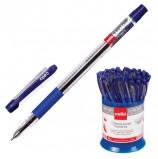 Ручка шариковая масляная с грипом CELLO 'Slimo Grip', СИНЯЯ, корпус прозрачный, узел 0,7 мм, линия письма 0,5 мм, 305092020