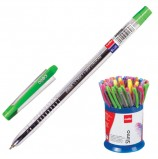 Ручка шариковая масляная CELLO 'Slimo', СИНЯЯ, детали ассорти, узел 0,7 мм, линия письма 0,5 мм, 305088020