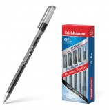Ручка гелевая ERICH KRAUSE 'G-Ice', ЧЕРНАЯ, корпус прозрачный, игольчатый узел 0,5 мм, линия письма 0,4 мм, 39004