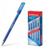Ручка гелевая ERICH KRAUSE 'G-Ice', СИНЯЯ, корпус прозрачный, игольчатый узел 0,5 мм, линия письма 0,4 мм, 39003