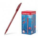 Ручка шариковая ERICH KRAUSE 'R-101', КРАСНАЯ, корпус тонированный красный, узел 1 мм, линия письма 0,5 мм, 33513