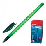Ручка шариковая ERICH KRAUSE 'R-101', ЗЕЛЕНАЯ, корпус тонированный зеленый, узел 1 мм, линия письма 0,5 мм, 33514