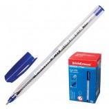 Ручка шариковая масляная ERICH KRAUSE 'Ultra Glide U-11', СИНЯЯ, корпус прозрачный, узел 1 мм, линия письма 0,5 мм, 37052