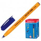 Ручка шариковая масляная ERICH KRAUSE 'Ultra Glide U-11', СИНЯЯ, корпус желтый, узел 0,7 мм, линия письма 0,35 мм, 37055