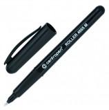 Ручка-роллер CENTROPEN, ЧЕРНАЯ, трехгранная, корпус черный, узел 0,7 мм, линия письма 0,6 мм, 4665/1Ч