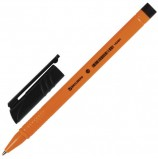 Ручка шариковая BRAUBERG 'Solar', ЧЕРНАЯ, трехгранная, корпус оранжевый, узел 1 мм, линия письма 0,5 мм, BP171