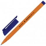 Ручка шариковая BRAUBERG 'Solar', СИНЯЯ, трехгранная, корпус оранжевый, узел 1 мм, линия письма 0,5 мм, BP172