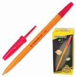 Ручка шариковая CORVINA (Италия) '51 Vintage', КРАСНАЯ, корпус оранжевый, узел 1 мм, линия письма 0,7 мм, 40163/03G