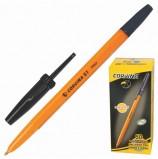 Ручка шариковая CORVINA (Италия) '51 Vintage', ЧЕРНАЯ, корпус оранжевый, узел 1 мм, линия письма 0,7 мм, 40163/01G