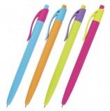 Ручка шариковая масляная автоматическая BRAUBERG 'FRUITY RX', СИНЯЯ, soft-touch, узел 0,7 мм, линия письма 0,35 мм, OBPR128