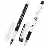 Ручка шариковая масляная с грипом BRAUBERG BLACK&WHITE 'Melody', СИНЯЯ, узел 0,7 мм, линия письма 0,35 мм, OBP130