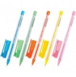 Ручка шариковая масляная BRAUBERG 'Cell', СИНЯЯ, детали ассорти, узел 0,6 мм, линия письма 0,3 мм, OBP109