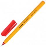 Ручка шариковая SCHNEIDER (Германия) 'Tops 505 F', КРАСНАЯ, корпус желтый, узел 0,8 мм, линия письма 0,4 мм, 150502