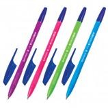 Ручка шариковая BRAUBERG 'X-333' NEON SOLID, СИНЯЯ, корпус ассорти, узел 0,7 мм, линия письма 0,35 мм, BP156