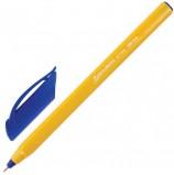 Ручка шариковая масляная BRAUBERG 'Extra Glide Orange', СИНЯЯ, трехгранная, узел 0,7 мм, линия письма 0,35 мм, OBP149