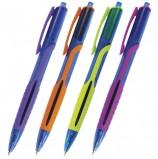 Ручка шариковая масляная автоматическая BRAUBERG 'Phantom color', СИНЯЯ, узел 0,7 мм, линия письма 0,35 мм, OBPR204