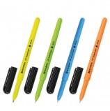 Ручка шариковая масляная BRAUBERG 'i-Stick Neon', СИНЯЯ, корпус ассорти, узел 0,7 мм, линия письма 0,35 мм, OBP220