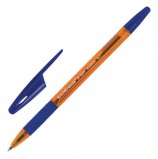 Ручка шариковая ERICH KRAUSE 'R-301 Amber Grip', СИНЯЯ, корпус тонировый оранжевый, узел 0,7 мм, линия письма 0,35 мм, 39530