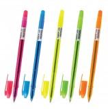 Ручка шариковая масляная ПИФАГОР 'Neon', корпус неоновый ассорти, узел 1 мм, линия письма 0,7 мм, OBP224