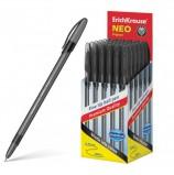 Ручка шариковая ERICH KRAUSE 'Neo Original', ЧЕРНАЯ, корпус тонированный черный, узел 0,7 мм, линия письма 0, 26 мм, 46516