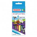 Фломастеры ПИФАГОР 'Гонщики', 6 цветов, вентилируемый колпачок, 151392