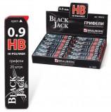 Грифели запасные BRAUBERG, КОМПЛЕКТ 20 шт., 'Black Jack' Hi-Polymer, HB, 0,9 мм, 180455