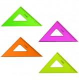 Треугольник пластиковый 45х12 см, СТАММ 'Neon Crystal', тонированный, прозрачный, неоновый, ассорти, ТК44