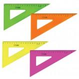 Треугольник пластиковый 30х18 см, СТАММ 'Neon Crystal', тонированный, прозрачный, неоновый, ассорти, ТК47