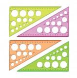 Треугольник пластиковый 30х19 см, СТАММ 'Neon Crystal', тонированный, прозрачный, неоновый, ассорти, ТК11