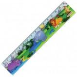 Линейка пластиковая 15 см, ПИФАГОР 'Сафари', цветная печать, с волнистым краем, европодвес, 210632