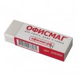 Резинка стирательная ОФИСМАГ, в картонном держателе, 60х20х11 мм, белая, 222469