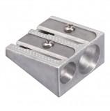 Точилка BRAUBERG 'Style', металлическая клиновидная, 2 отверстия, в картонной коробке, 222486
