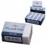 Резинка стирательная KOH-I-NOOR, прямоугольная, 30х18х12 мм, белая, картонный держатель, картонный дисплей, 4770080002KD