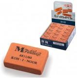 Резинка стирательная KOH-I-NOOR 'Mondeluz', прямоугольная, 31х21х7 мм, оранжевая, картонный дисплей, 6811060003KDRU