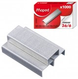 Скобы для степлера №26/6, 1000 штук, MAPED (Франция), до 20 листов, 324605