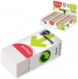 Резинка стирательная MAPED (Франция) 'Technic Mini', 39х18х12,3 мм, белая, картонный держатель, дисплей, 011301