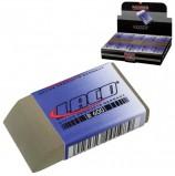 Резинка стирательная LACO (Германия), прямоугольная, 48x24x12 мм, белая, картонный дисплей, R 600
