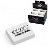 Резинка стирательная LACO (Германия), прямоугольная, 42x29x10 мм, белая, картонный дисплей, R 610
