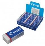 Резинка стирательная PILOT, прямоугольная, 45х20х12 мм, белая, виниловая, картонный держатель, EE-101