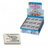 Резинка стирательная KOH-I-NOOR 'Слон', прямоугольная, 35,5x23x8 мм, белая, картонный дисплей, 0300040026KDRU