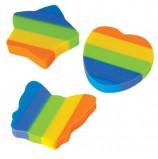 Резинка стирательная ПИФАГОР, 'Радуга', 30x30x6 мм, цветная, фигурная, 226535