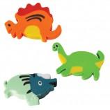 Резинка стирательная ПИФАГОР, 'Динозаврики', 35x23x5 мм, цветная, фигурная, 226536