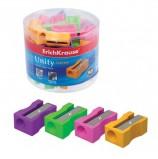 Точилка ERICH KRAUSE 'Unity Neon', пластиковая, прямоугольная, цвет неоновый ассорти, 38013