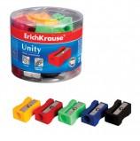 Точилка ERICH KRAUSE 'Unity', пластиковая, прямоугольная, цвет ассорти, 38012