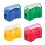 Точилка ПИФАГОР с контейнером, пластиковая, 'Сундучок', цвет корпуса ассорти, 226938