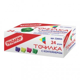 Точилка ПИФАГОР с контейнером, пластиковая, 'Бабочка', цвет корпуса ассорти, 226935