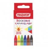 Восковые карандаши ПИФАГОР 'СОЛНЫШКО', НАБОР 6 цветов, 227278