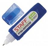 Ручка-корректор STAFF, 6 мл, металлический наконечник, плоский корпус, 227569